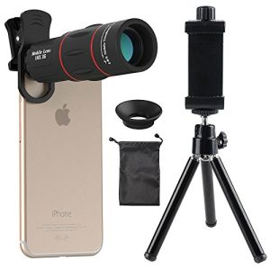 Cell Phone Camera Lens, Godefa 18X Zoom Telephoto Universal Clip On Lens Kit Compatible iPhone 8/7/6S/6 Plus/5/4,Samsung, Android Other Phones