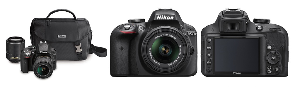 Nikon D3300 DX-format DSLR Kit
