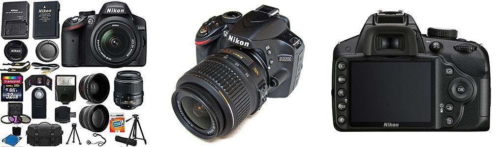 Nikon 3200 Digital SLR kit Black-Kit