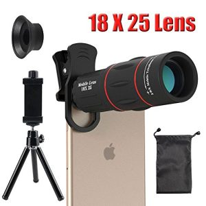 18X Cell Phone Camera telephoto Lens, Zwish Zoom Telephoto Universal Clip On Lens Kit for iPhone 8/7/6S/6 Plus/5/4,Samsung, Android and Other Phones