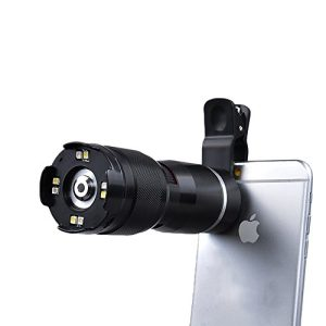 Apexel 400X Optical Zoom Microscope Magnifier Lens with Universal Clip for iPhone 6/6s plus 6/6 plusSamsung Galaxy HTC and most Smartphone-Black