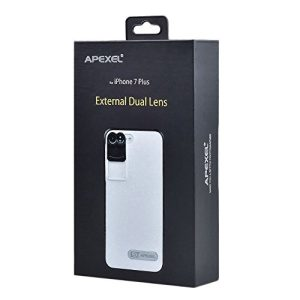 Apexel Iphone 7 Plus Dual Lens-Fisheye, Telephoto 2 in 1 Lens Kit with Case for Iphone 7 Plus