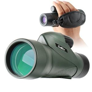 Gosky High Definition Monocular Telescope and Quick Smartphone Holder – 2018 New Waterproof Monocular -BAK4 Prism for Wildlife Bird Watching Hunting Camping Travelling Wildlife Secenery