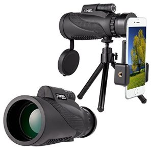Mobile Phone Telescope,Monocular Telescope,Zoom Camera lens Low Night Vision 12X50 BAK4 Prism & FMC, Telephoto Lenses Smartphone for Land Scene Viewing Fishing Travelling Bird Watching by Longiko