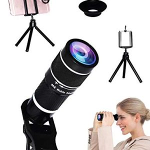 Universal 20X Clip-On Telephoto Telescope Camera Mobile Phone Zoom Lens Suitable Almost 98% Smartphones on The Market