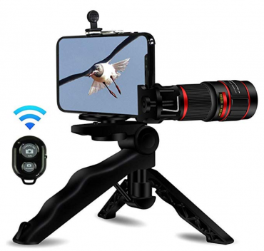 20X Zoom Telephoto Cell Phone Camera Lens, Stronger Phone Tripod, Wireless Remote Shutter